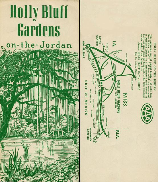 08c Holly Bluff Gardens Ms Brochure 1950s